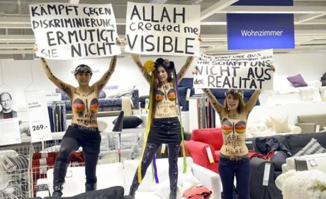 FEMEN провели акцию в Гамбурге