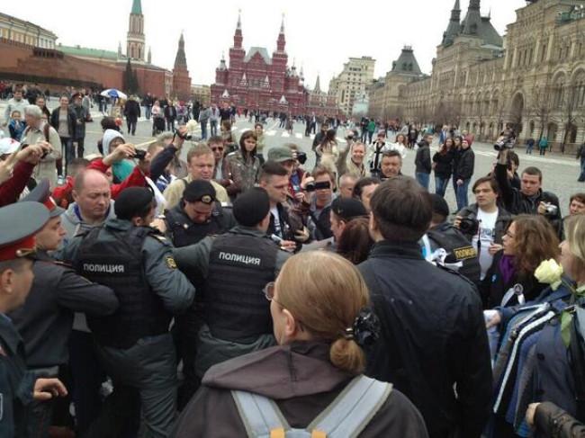 Задержания на Красной площади