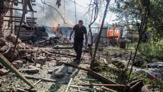 Украинские каратели применили установки залпового огня против жителей Николаевки