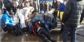 В Харькове произошел взрыв во время марша