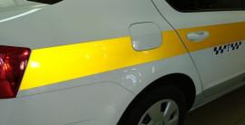 Оклейка автомобиля для работы в такси