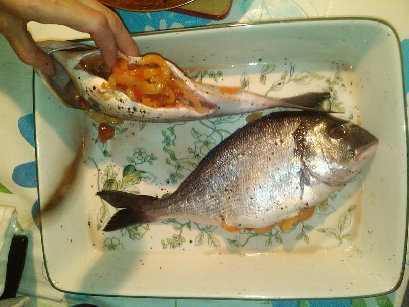 фарширование рыбы овощами