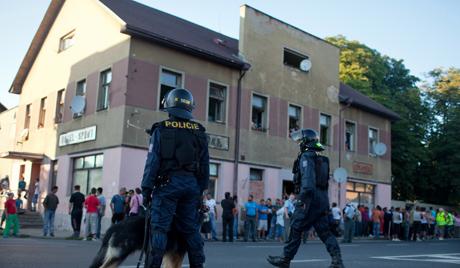 антицыганские демонстрации in Varnsdorf