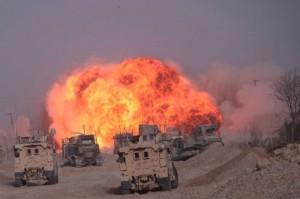 Авиаудар на лагерь курдских боевиков в Хасеке