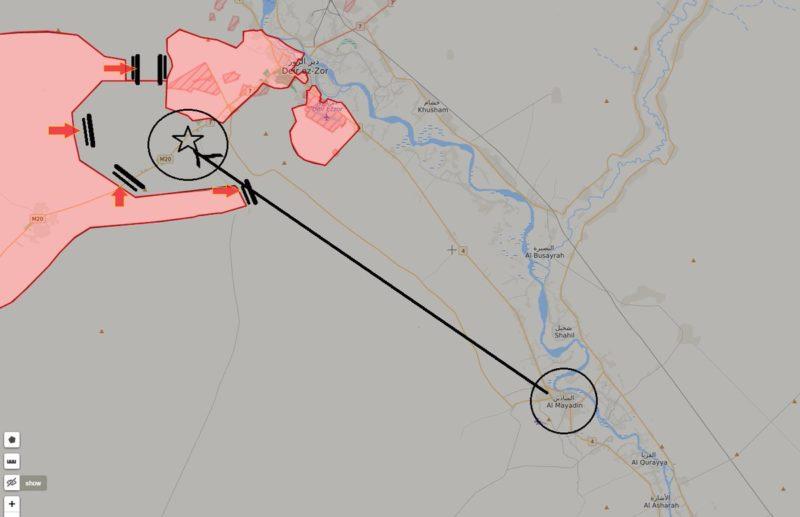 Сирийская армия захватила позиции в 4 км от Дейр Эз-Зора