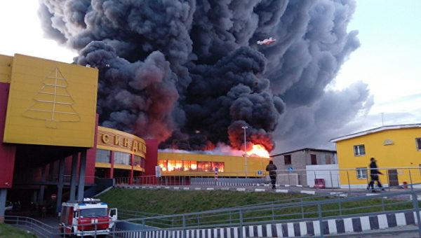 Пожар в ТЦ «Синдика» ликвидирован