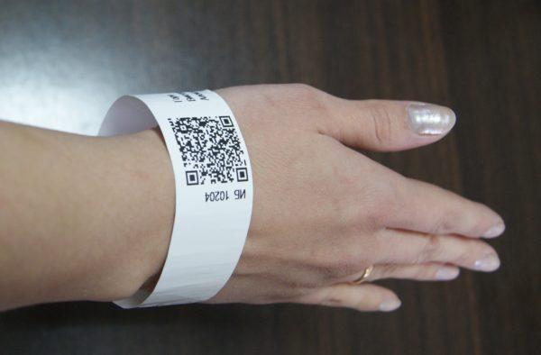 QR система на руке